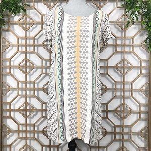 Charming Charlie Short Sleeve Tribal Print Dress
